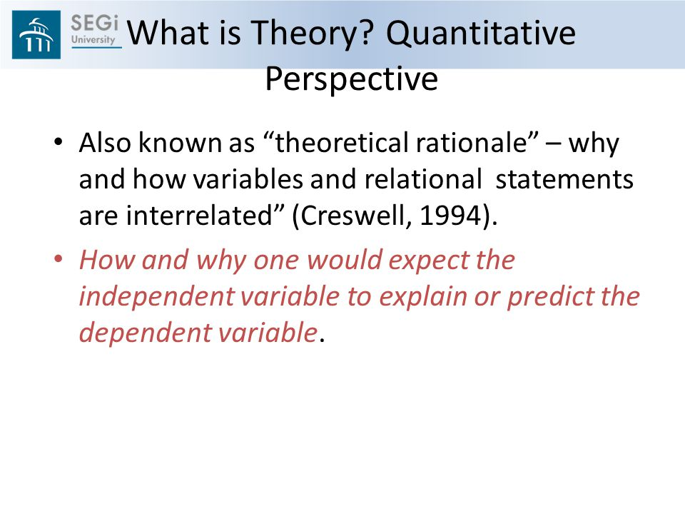 What is Theory Quantitative Perspective
