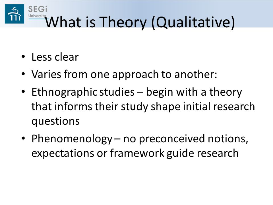 What is Theory (Qualitative)
