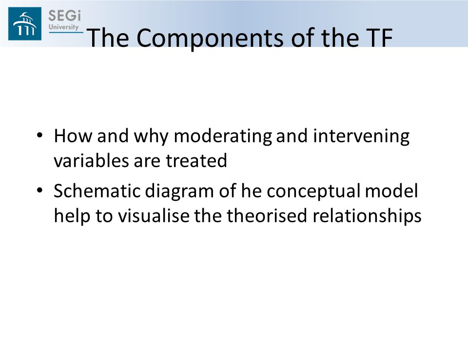 The Components of the TF