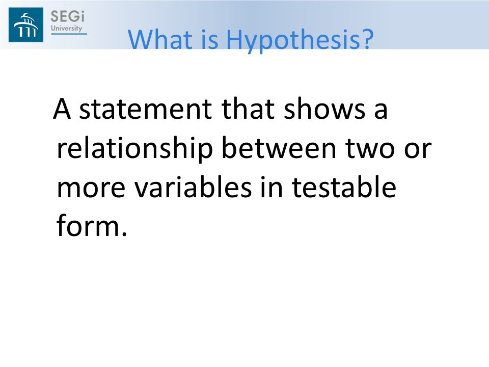 What is Hypothesis.