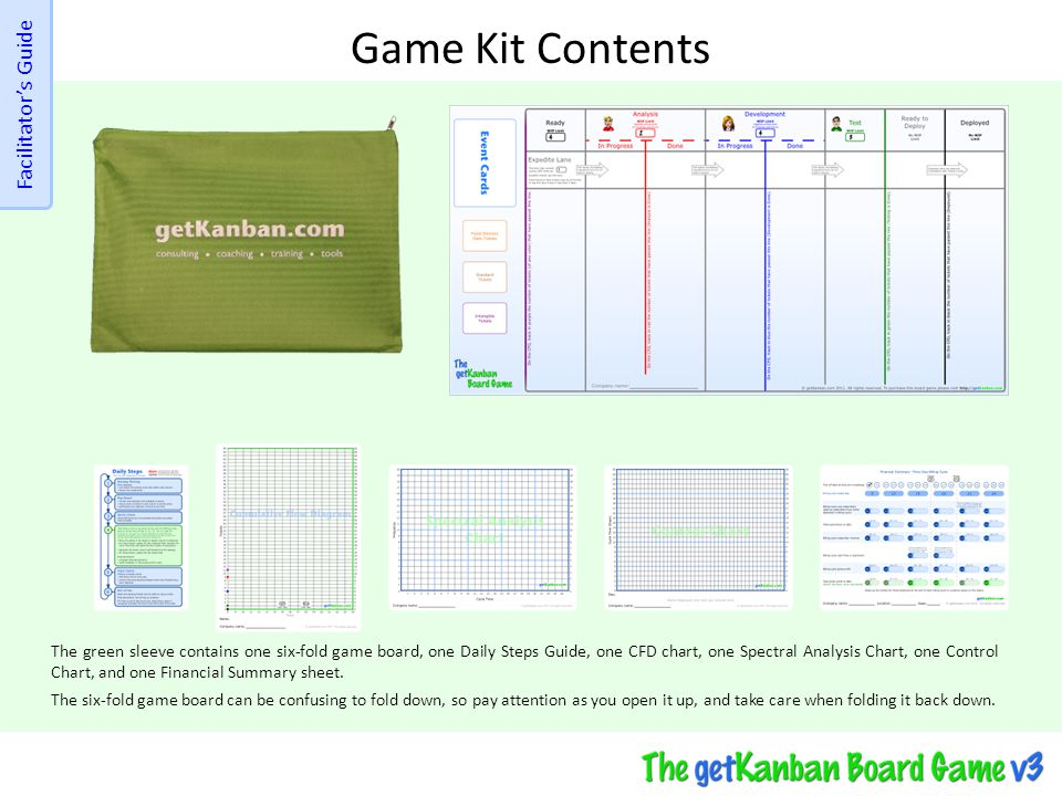Game Kit Contents Facilitator's Guide