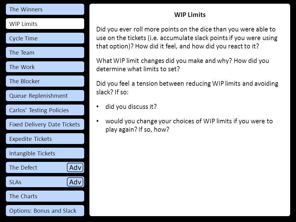 Debrief: WIP Limits WIP Limits