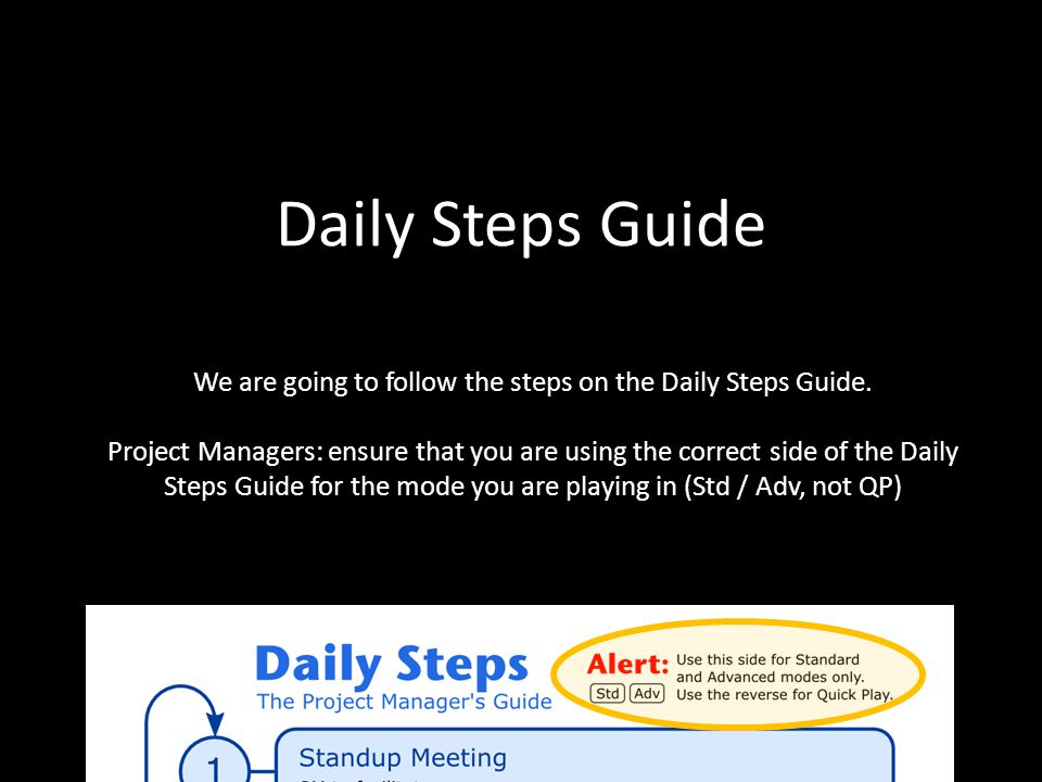 We are going to follow the steps on the Daily Steps Guide.