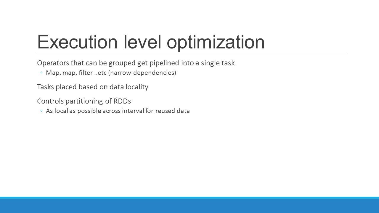 Execution level optimization