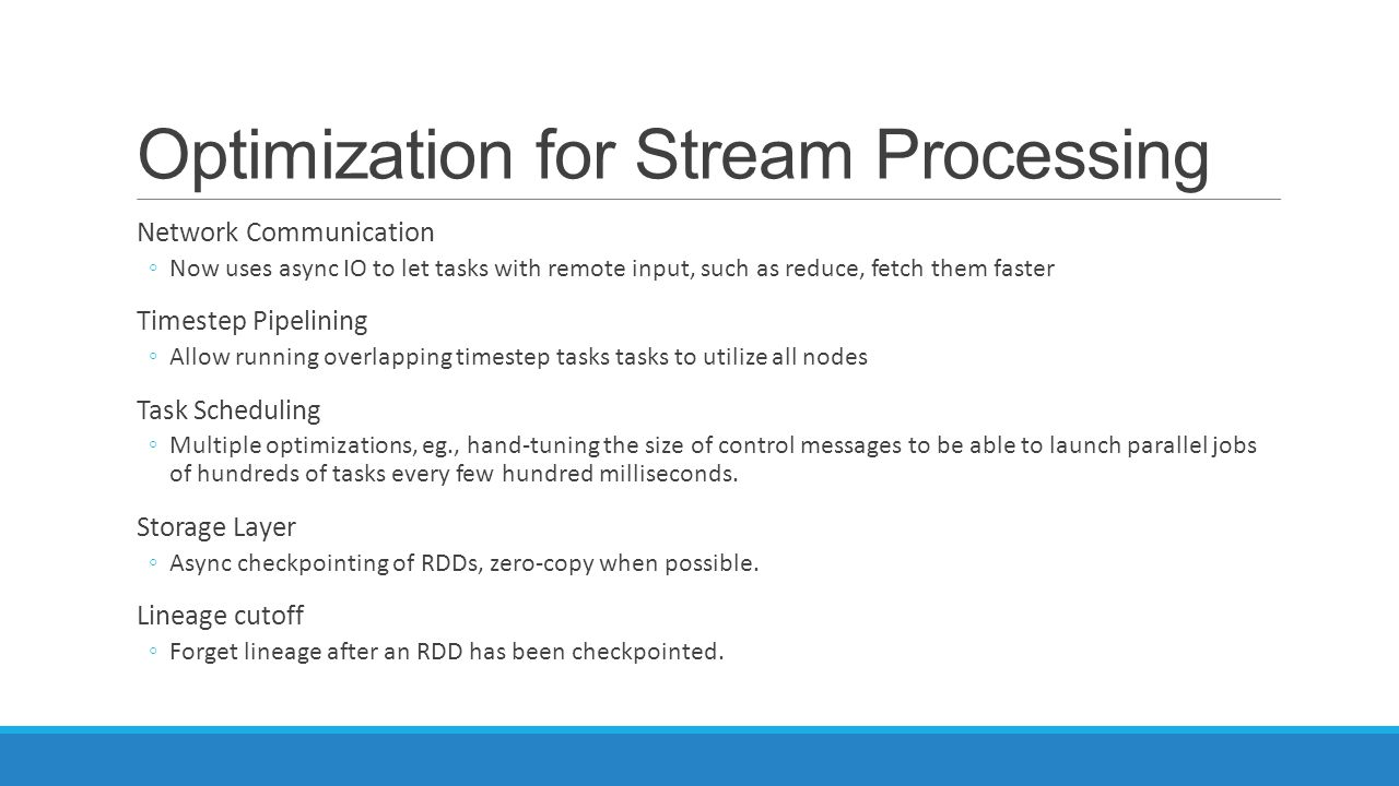 Optimization for Stream Processing