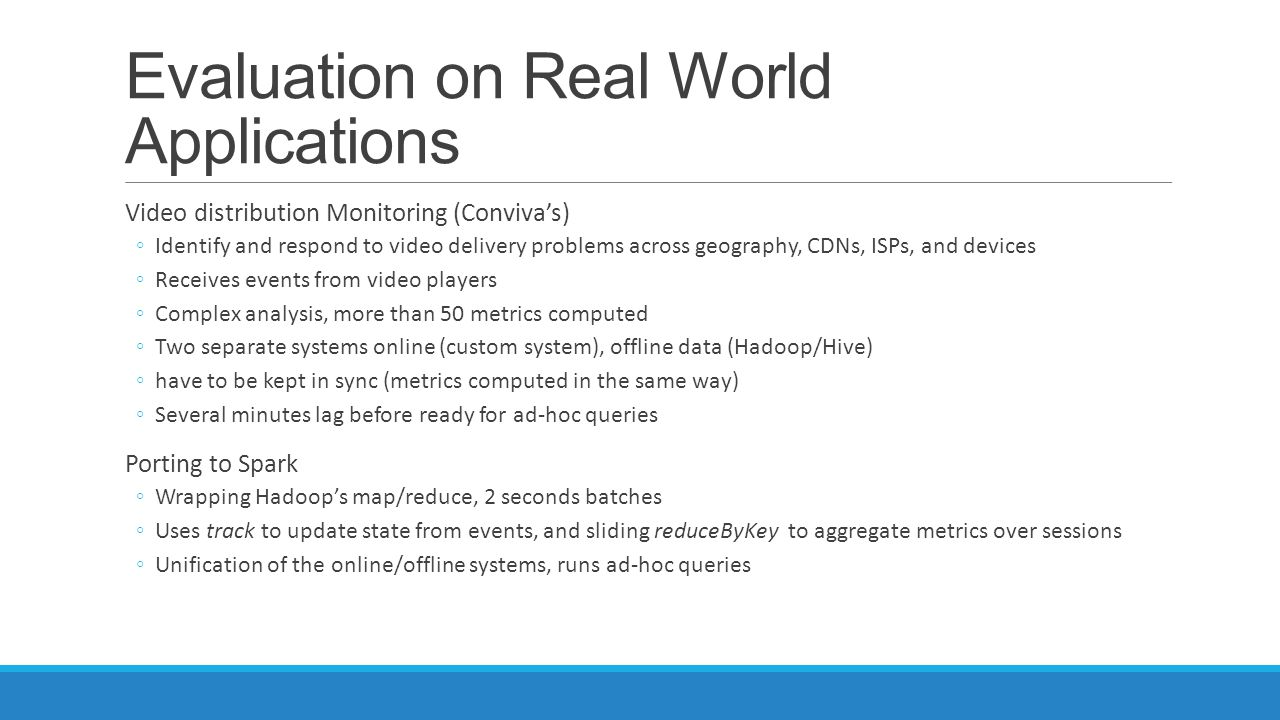 Evaluation on Real World Applications