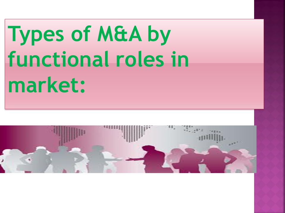 Types of M&A by functional roles in market: