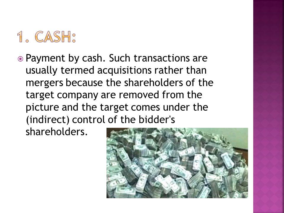 1. Cash: