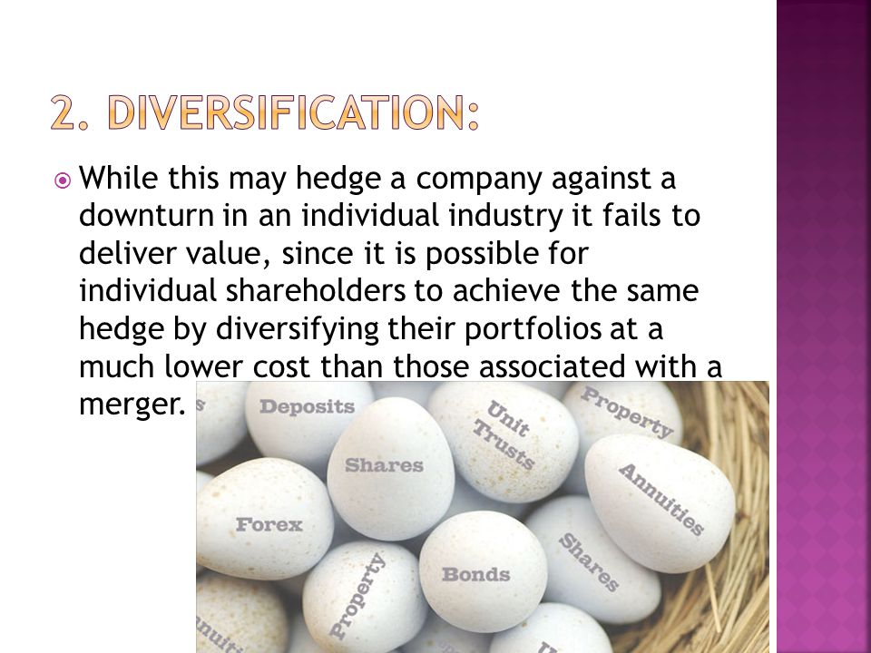 2. Diversification: