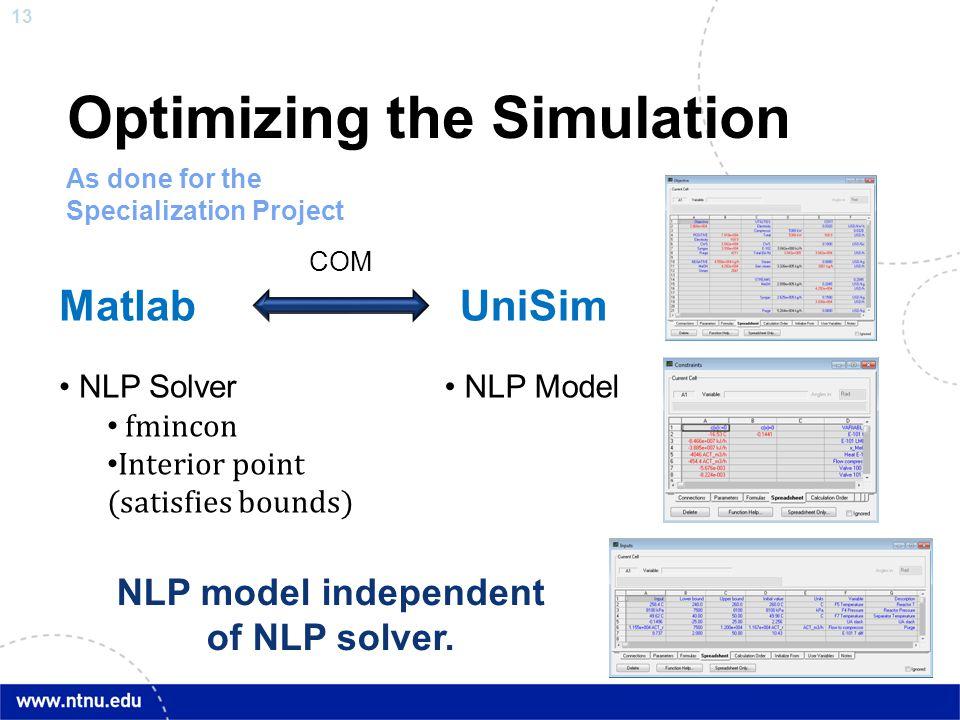 Optimizing the Simulation