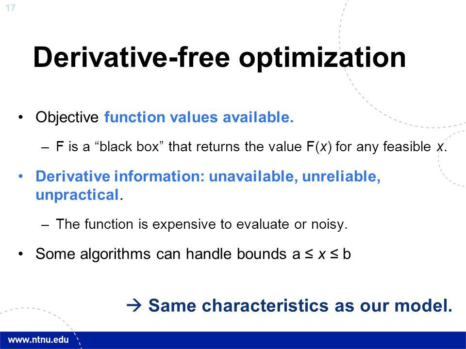 Derivative-free optimization
