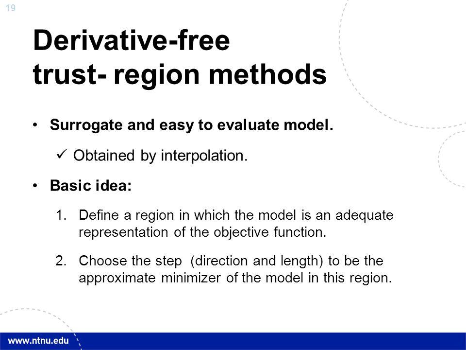 Derivative-free trust- region methods