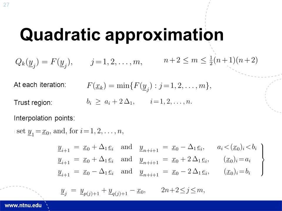 Quadratic approximation