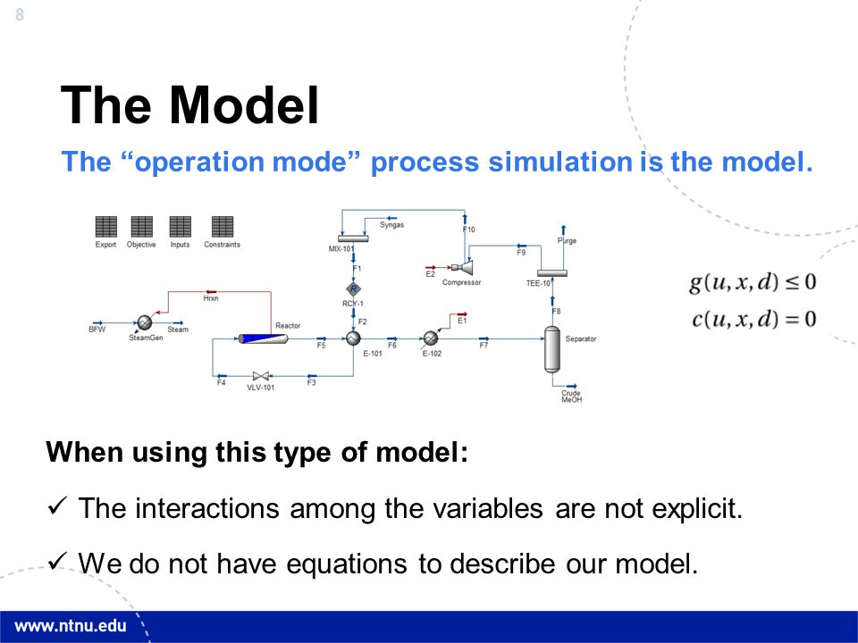 The Model The operation mode process simulation is the model.