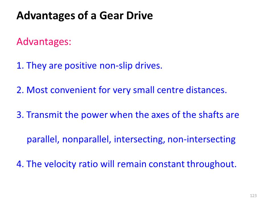 Advantages of a Gear Drive
