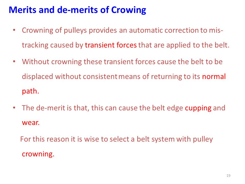 Merits and de-merits of Crowing