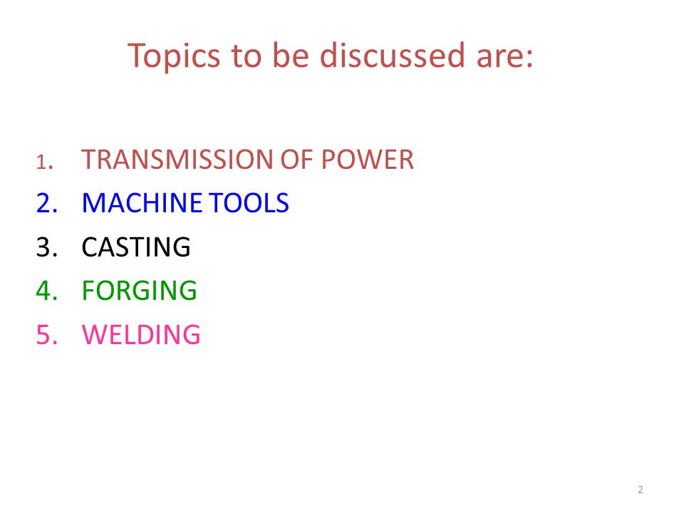 Topics to be discussed are: