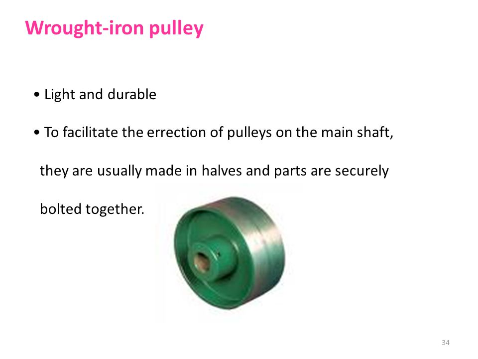 Wrought-iron pulley Light and durable