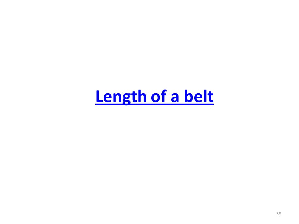 Length of a belt