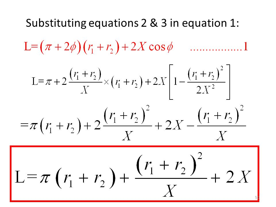 Substituting equations 2 & 3 in equation 1:
