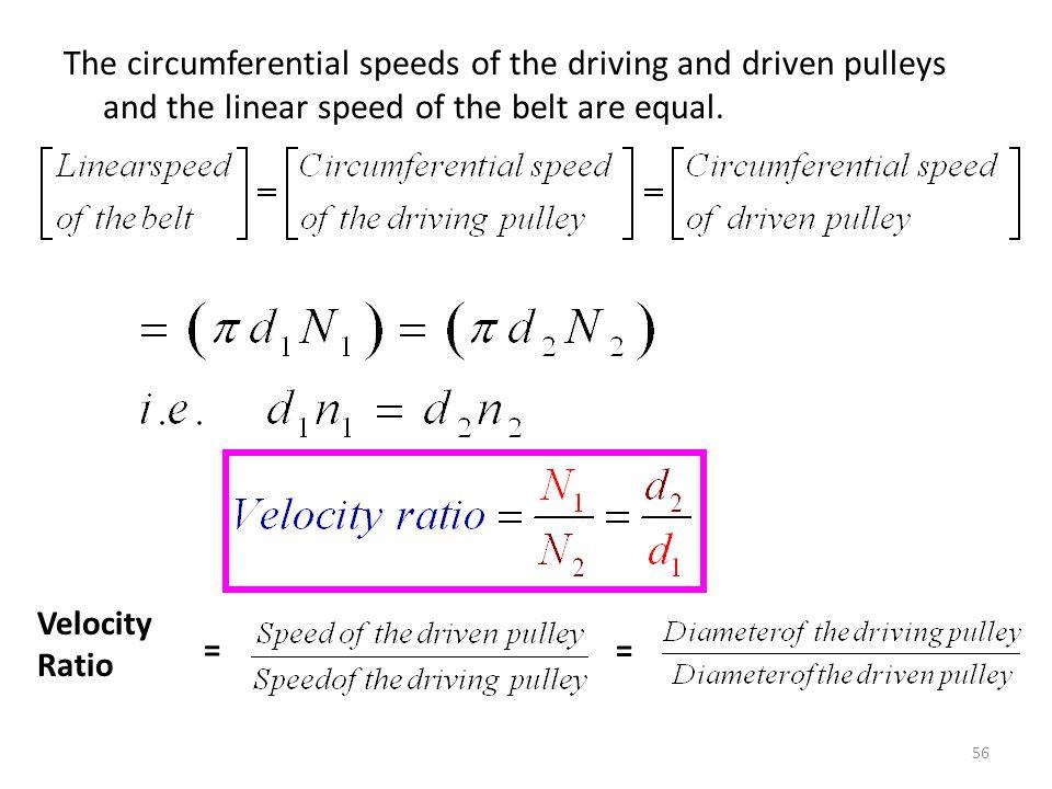 Circumferential speed