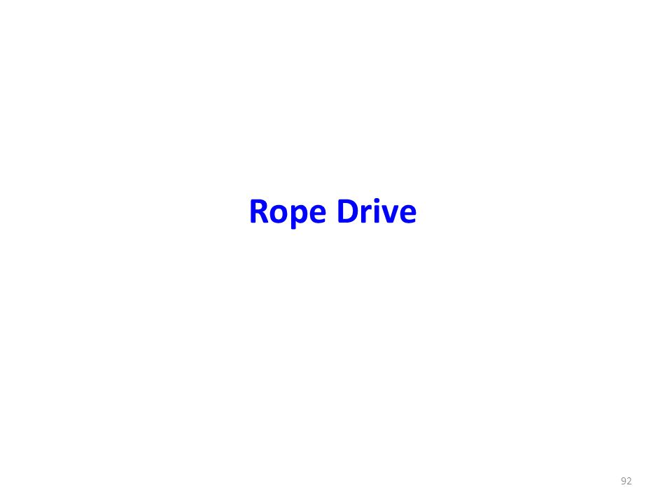 Rope Drive