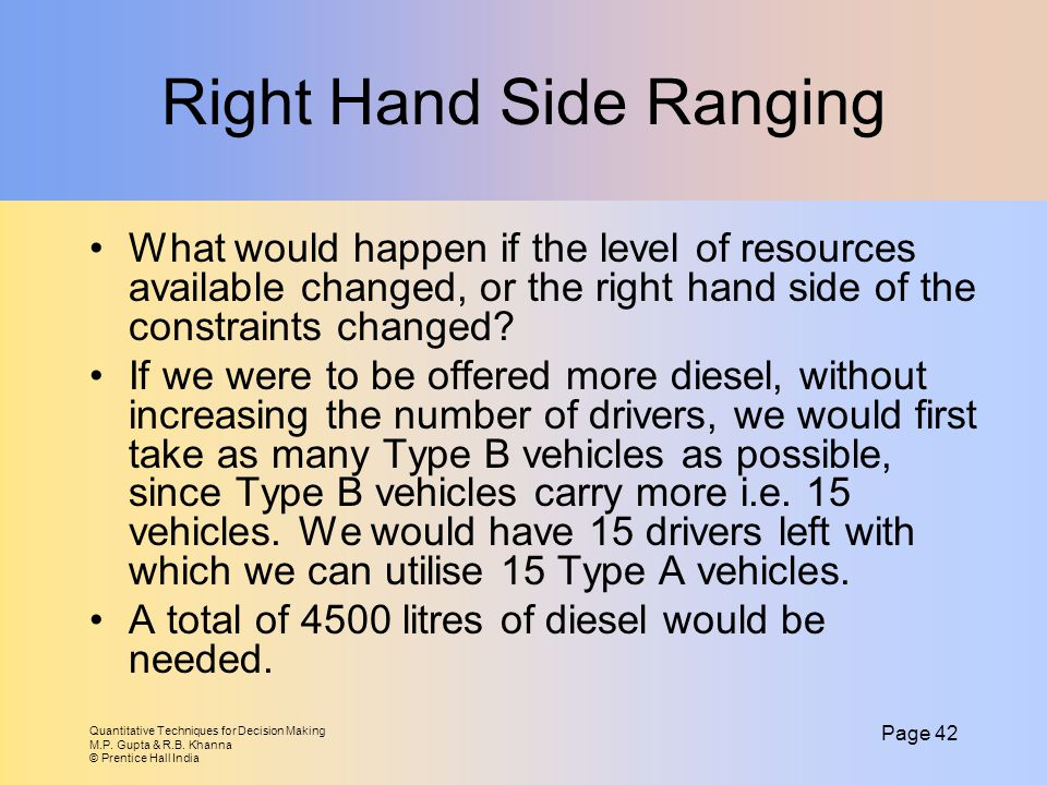 Right Hand Side Ranging