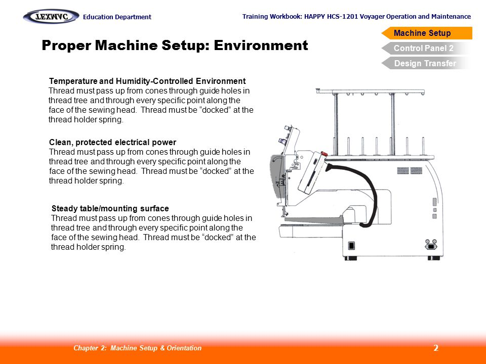 Proper Machine Setup: Environment