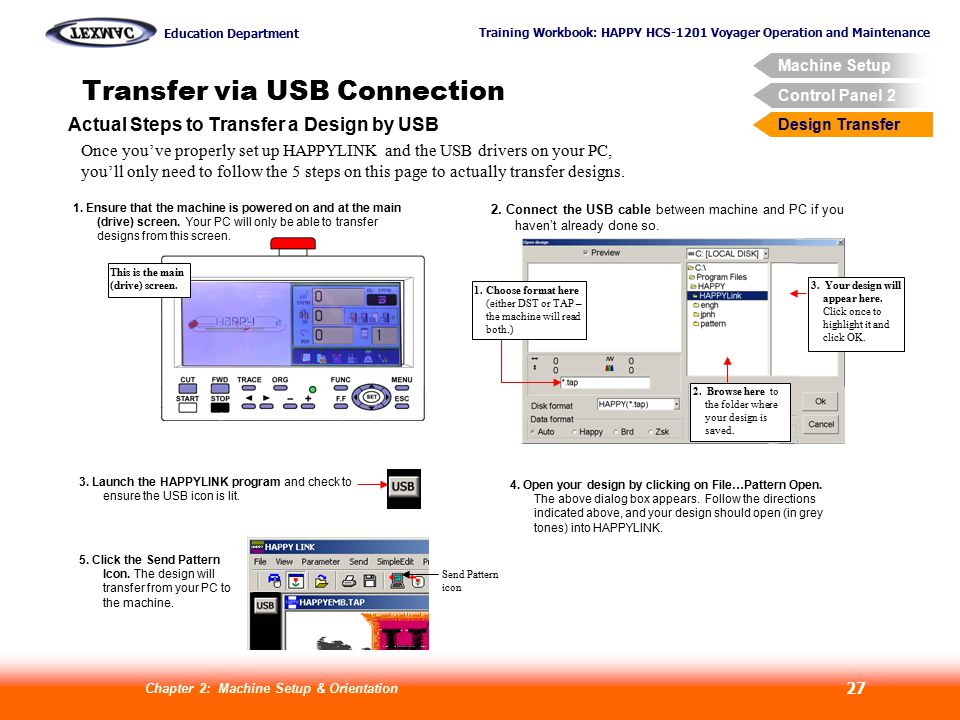 Transfer via USB Connection