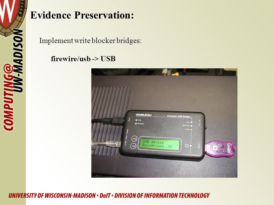 Evidence Preservation:
