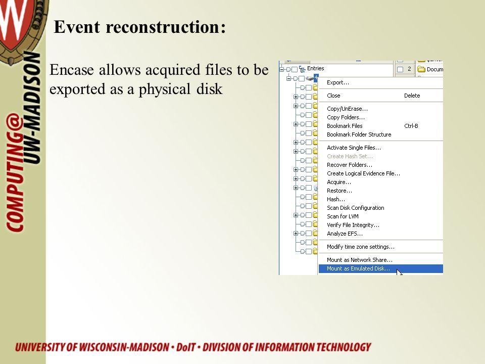 Event reconstruction: