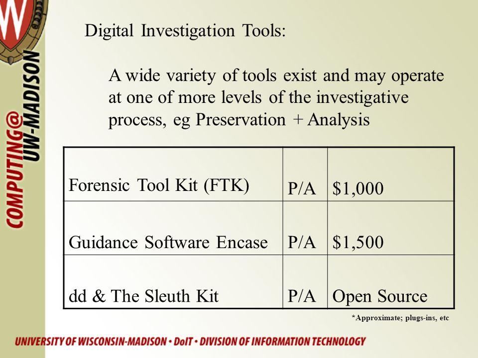 Digital Investigation Tools: