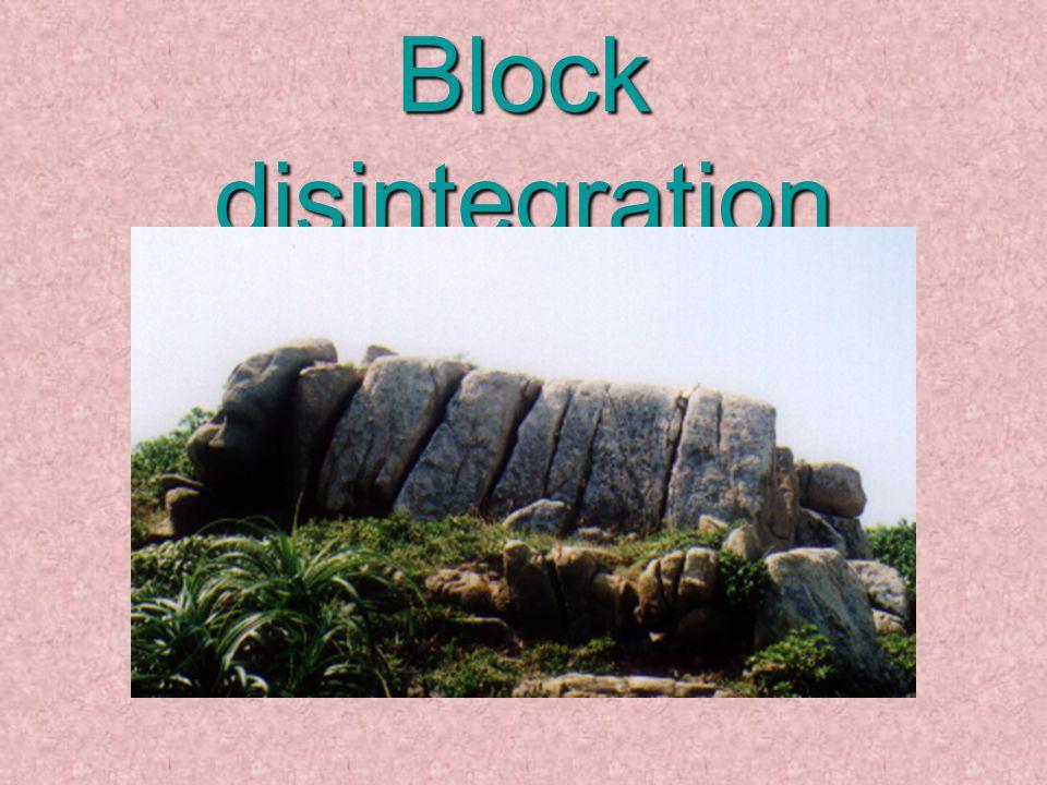 Block disintegration