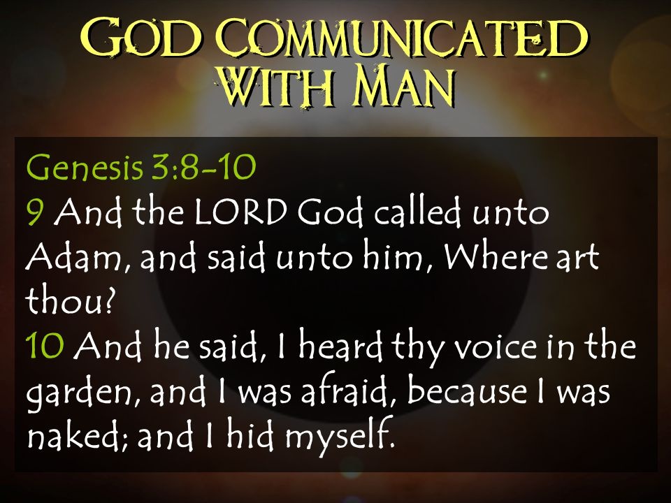 God Communicated With Man