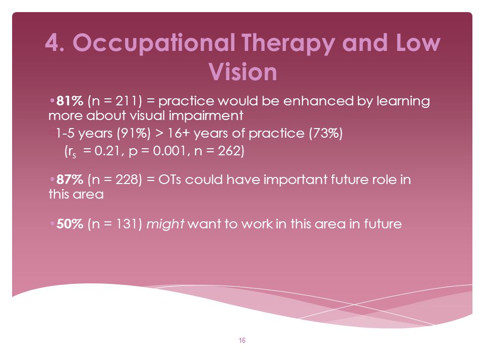 4. Occupational Therapy and Low Vision