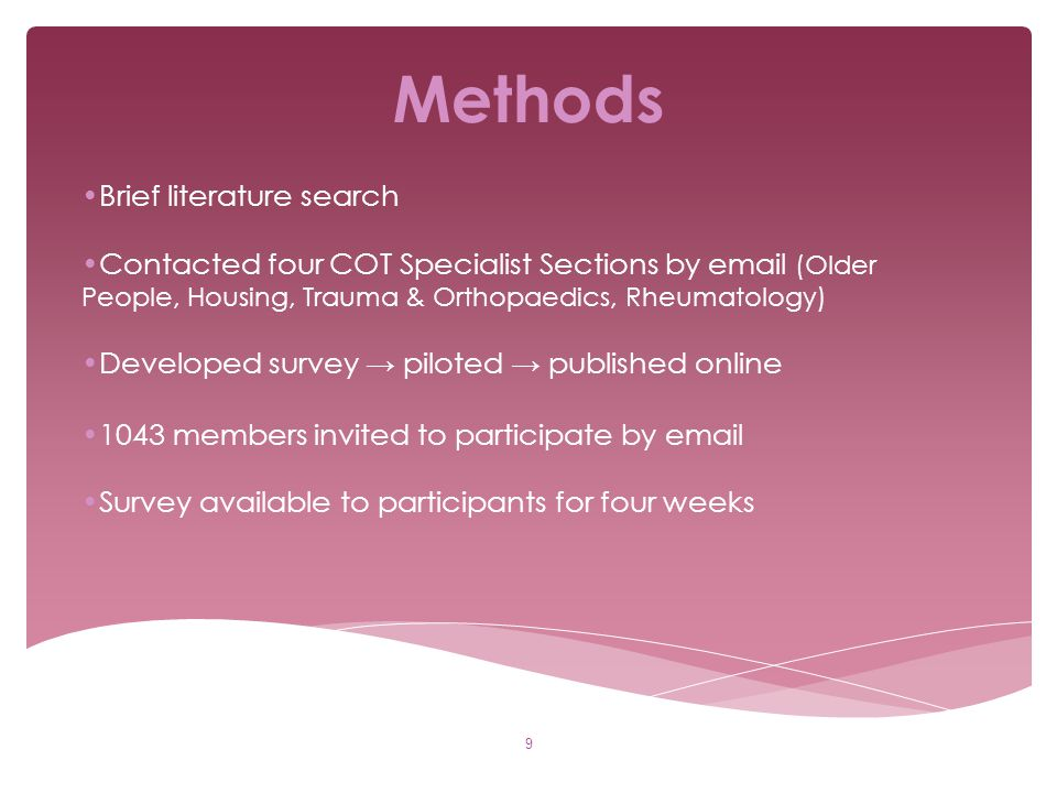 Methods Brief literature search