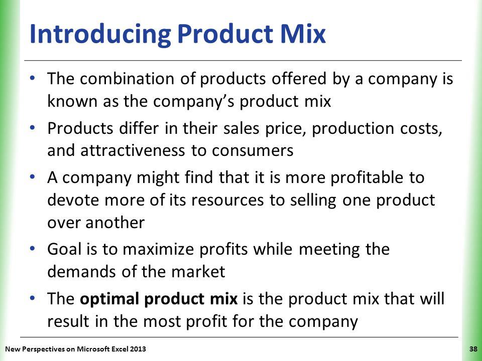 Introducing Product Mix