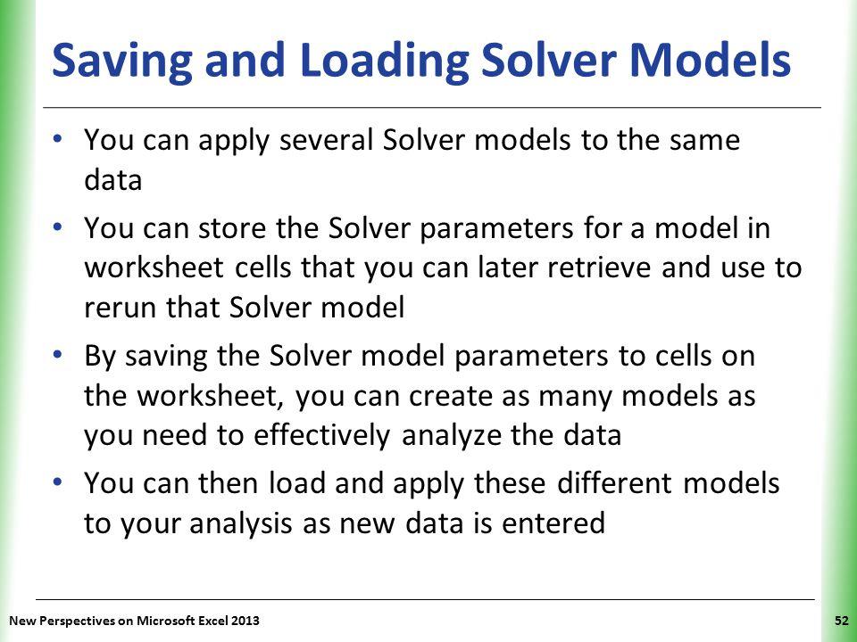 Saving and Loading Solver Models