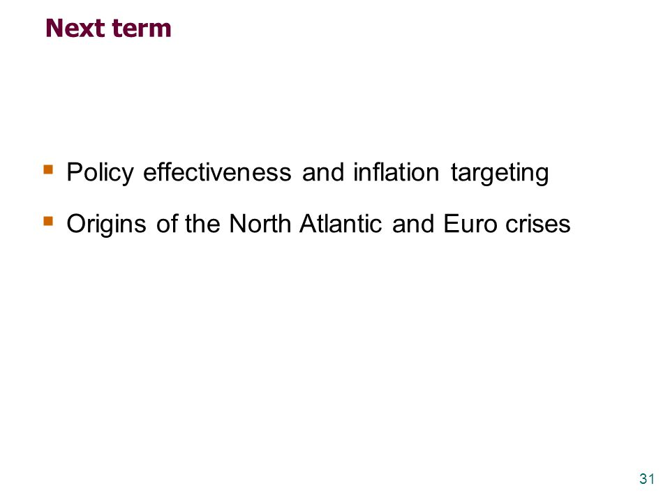 Policy effectiveness and inflation targeting