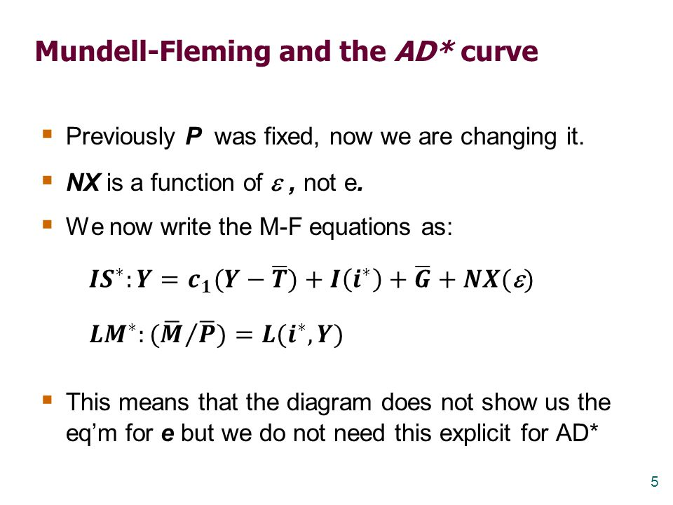 Mundell-Fleming and the AD* curve