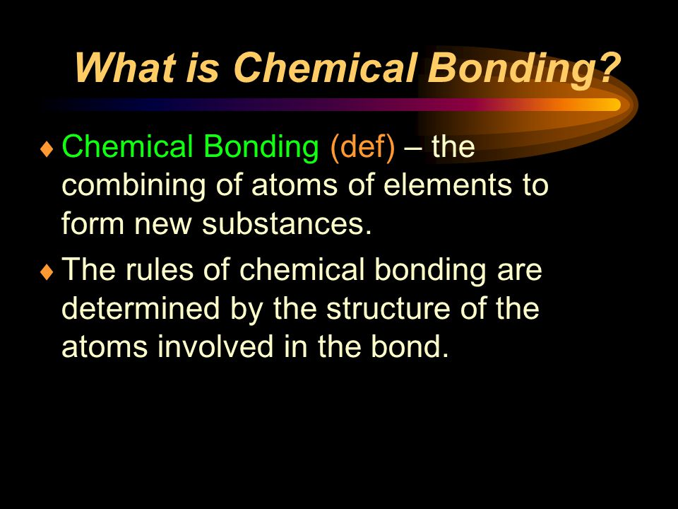What is Chemical Bonding