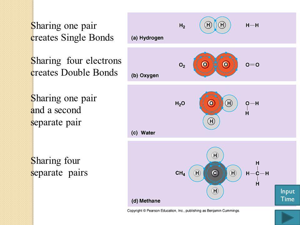 Sharing one pair creates Single Bonds