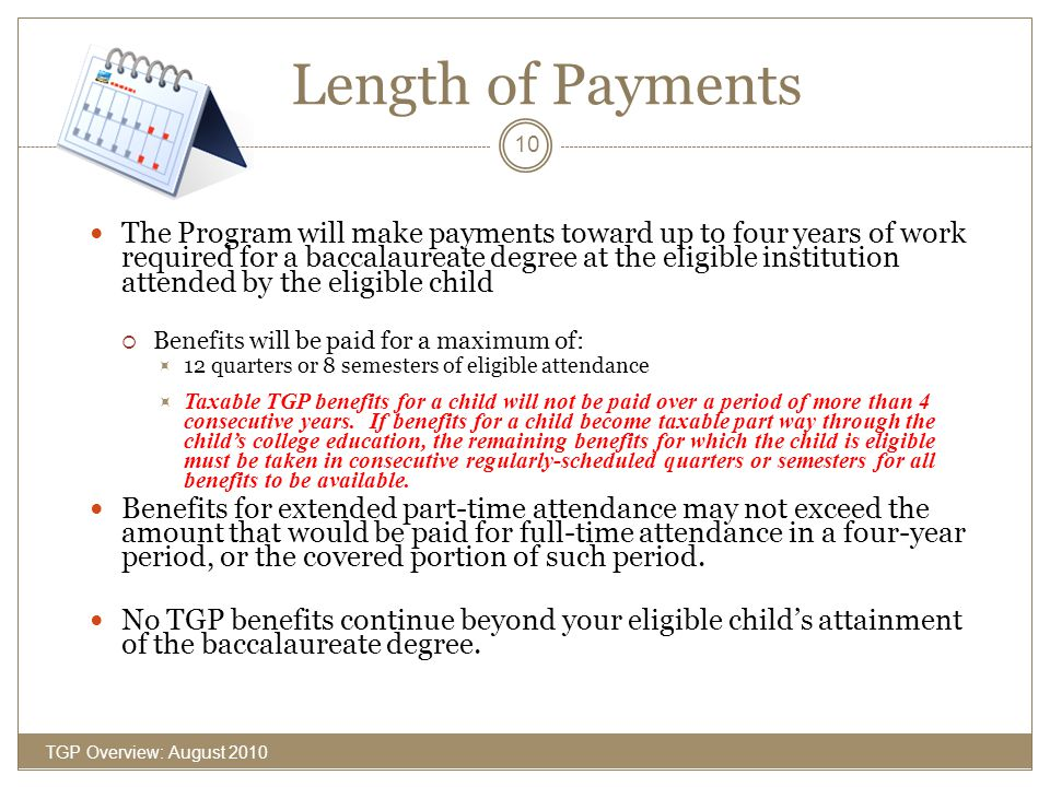 Length of Payments