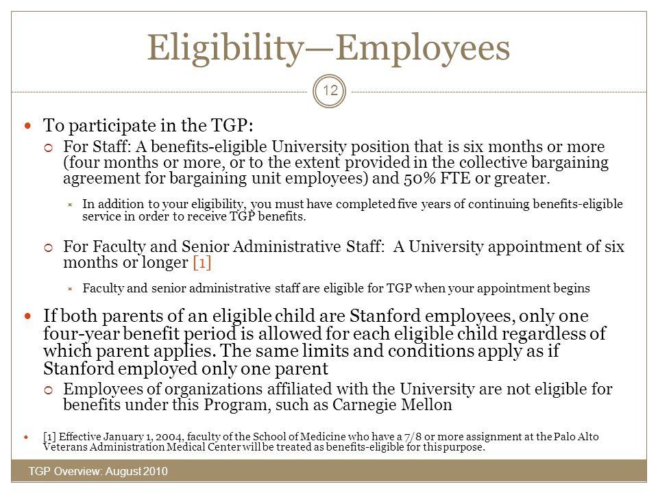 Eligibility—Employees