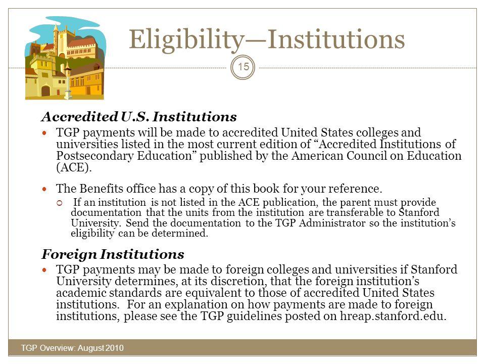 Eligibility—Institutions