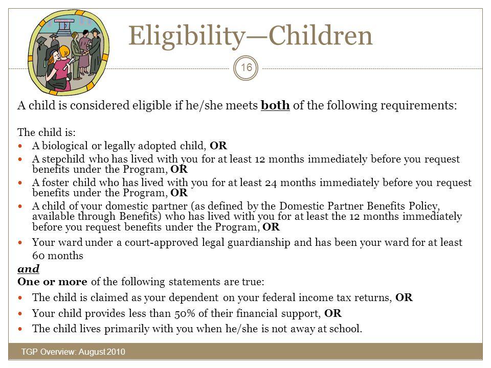 Eligibility—Children