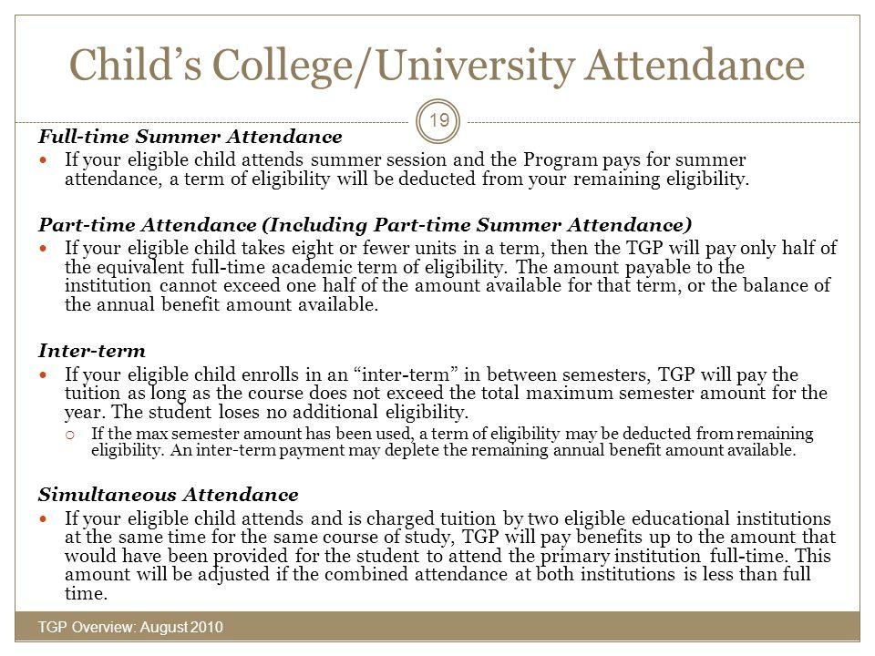 Child's College/University Attendance