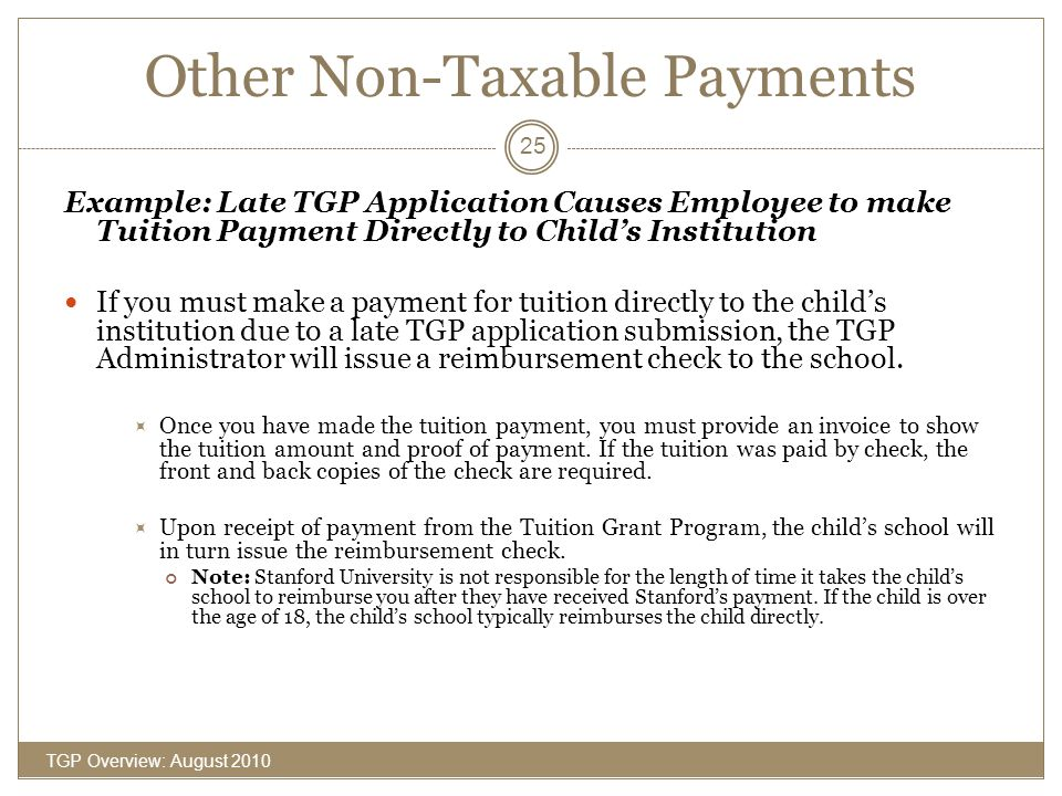 Other Non-Taxable Payments