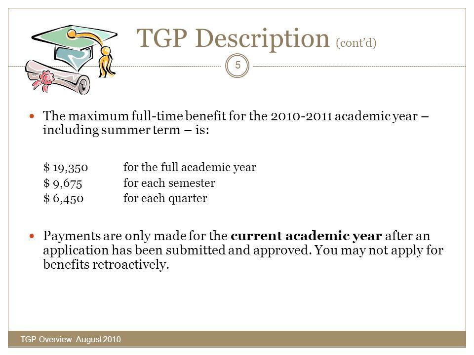 TGP Description (cont'd)