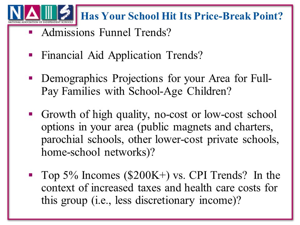 Has Your School Hit Its Price-Break Point